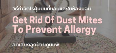 วิธีกำจัดไรฝุ่น-get rid of dust mites